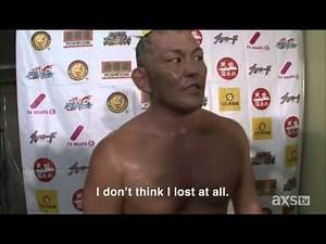 Minoru Suzuki's response to being eliminated from the 2014 G1 Climax