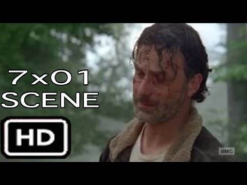 """The Walking Dead 7x01 """"Maggie cries, Rick Tries to stop her"""" Scene Season 7 Episode 1"""