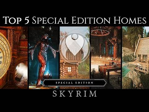 MY TOP 5 PLAYER HOME MOD LIST | Skyrim SE Ultra High Photoreal Graphics | Nvidia GTX 1080