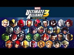 All Characters Announced for Marvel Ultimate Alliance 3: The Black Order (34 Launch Characters)