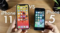 iPhone 11 Vs iPhone 5! (Comparison) (Review)