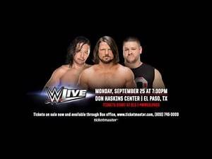 WWE Live - El Paso, TX - September 25th, 2017