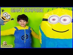 GIANT EGG SURPRISE MINION Toys from Despicable Me Fun Kids Video