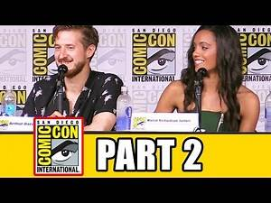 LEGENDS OF TOMORROW Season 2 Comic Con Panel (Part 2) - Caity Lotz, Brandon Routh, Dominic Purcell
