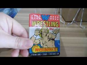 1987 WWF Wrestlemania 3 Hulkster VS Andre The Giant Pack Card