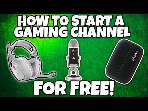 How to Start A YouTube Gaming Channel With NO MONEY!