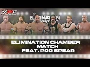 WWE 2K17 ELIMINATION CHAMBER Match | Feat. Goldberg, Pod SPEAR OMG Move And More.