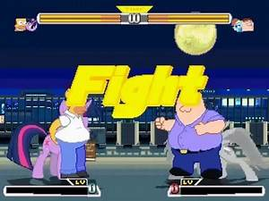 MUGEN HOMER AND TWILIGHT SPARKLE VS PETER AND RAINBOW DASH 2015
