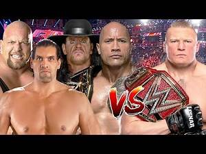 Brock Lesnar vs The Great Khali, The Rock, Big Show & The Undertaker
