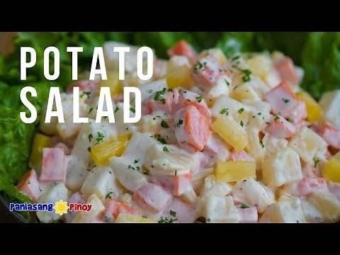 How to Make Potato Salad with Carrots and Pineapple