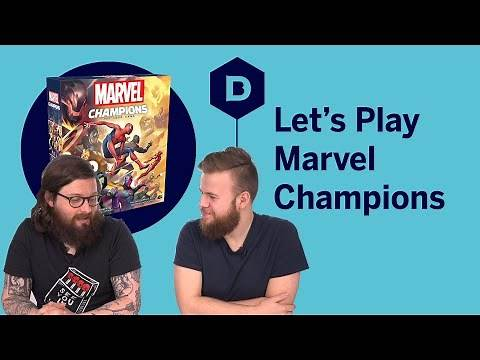 Marvel Champions board game playthrough - Let's Play Marvel Champions: The Card Game