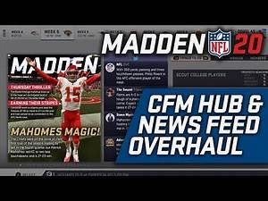Madden 20 Franchise Mode Wishlist | CFM Hub & News Feed Overhaul