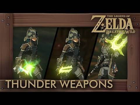 Zelda Breath of the Wild - All Thunder Weapons (Complete Set Location)