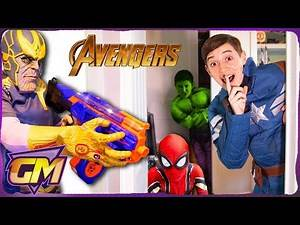 Avengers Kids Hide and Seek Nerf!