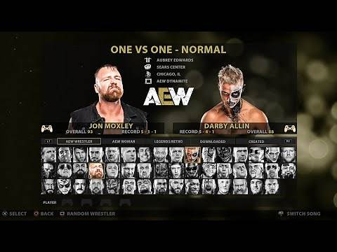 AEW Video Game Roster - Over 80 Superstars & Legends! PS4/XBOX ONE (Concept)