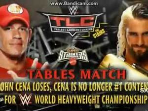 WWE John Cena vs Seth Rollins Table Match TLC 2015 Highlights