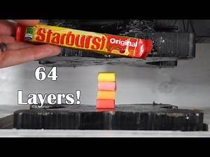 Starburst Crushed And Folded With Hydraulic Press Into 64 layers