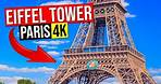 EIFFEL TOWER, Paris France 4K (Tour Eiffel, Trocadero square, Eiffel Tower light show at night)