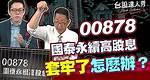 【台股達人秀】ep73 00878國泰永續高股息 套牢了怎麼辦?|游庭皓|蕭又銘|GMoney
