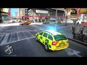 [GTA IV] London emergency Services - Police Ambulance Service Response to Stabbing