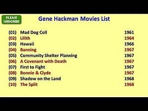 Gene Hackman Movies List