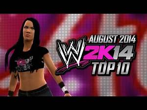 WWE 2K14 Top 10 Divas (August 2014)