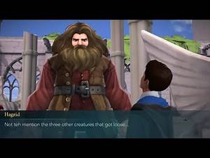 Talk to Hagrid about Nifflers - Harry Potter Hogwarts Mystery (Year 4 Chapter 8)