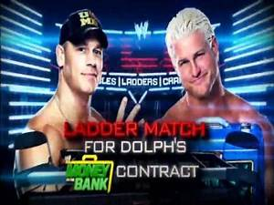 WWE TLC 2012 Match Card John Cena Vs Dolph Ziggler In A Ladder Match For Dolph Ziggler Money In The Bank