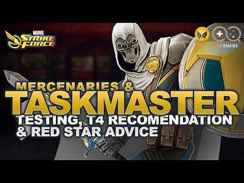 Taskmaster & Best Merc Testing: T4, unlock and red star recommendations