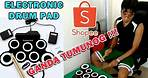 Electronic Drum pad from shopee | Digital Drum | Unboxing, Review and Testing