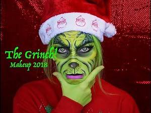 The Grinch Face Paint 2018 - Christmas!!!