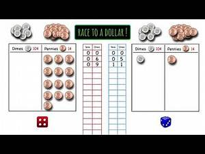 """How to Play """"Race to a Dollar"""" Math Game"""