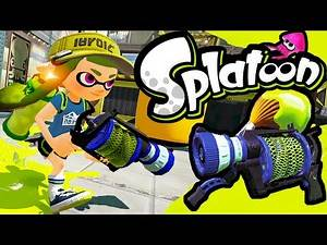 Splatoon Wii U New Weapons Update! L-3 Nozzlenose Inkbrush Online Gameplay Walkthrough PART 11 HD