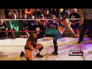 Mia Yim rattles Jordynne Grace with stiff chest kicks! | Women's Wrestling Revolution #Revolutionary