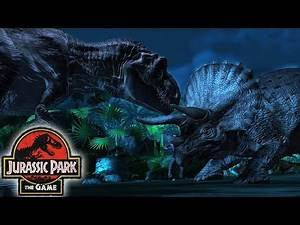 T-REX Vs TRICERATOPS - EP1: THE INTRUDER || Jurassic Park The Game [FHD-1080p]