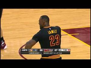 LeBron James Tears His Short Sleeve Jersey After Missing a 3. Rips Jersey