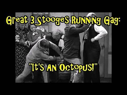 """Great 3 Stooges Running Gag: """"It's An Octopus!"""""""