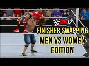 WWE 2K17 | Finisher Swapping | Men vs Women Edition