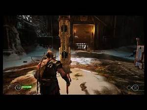 God of War - The Marked Trees: Gate Puzzle Pull Chain Throw Leviathan Axe (Freeze Gears) (2018)