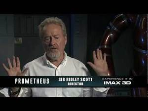 Prometheus IMAX Featurette - Ridley Scott, Michael Fassbender, Noomi Rapace, Charlize Theron