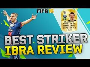 BEST STRIKER in FIFA 16 ULTIMATE TEAM - FIFA 16 IBRAHIMOVIC Player Review + In Game Stats