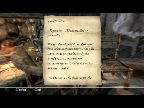 Skyrim - Dark Brotherhood Quests - Breaching Security (1/2)