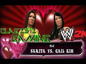 WWE 2K14 Sarita Vs Gail Kim Knockouts Championship match