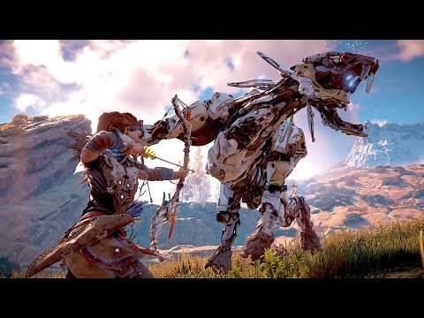 Horizon Zero Dawn - Epic High Action Combat & Free Roam Gameplay 4K