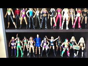 WWE women's division action figure collection