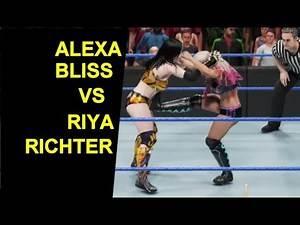 WWE 2K19 Alexa Bliss vs Riya Richter - No Hold Barred