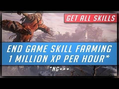 Sekiro Shadows Die Twice - Infinite XP Farming - 350K/750k/1 Million XP per Hour (Get All Skills)