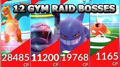Pokémon GO 12 RAID BOSSES! Charizard Muk Gengar Arcanine Magikarp Rhydon & more