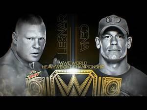 WWE Night of Champions 2014 - John Cena vs. Brock Lesnar - FULL MATCH PREVIEW (WWE 2K14)