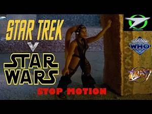 Star Wars vs Star Trek, Blake's 7 & Doctor Who at Jabba's Palace - Stop Motion Animation